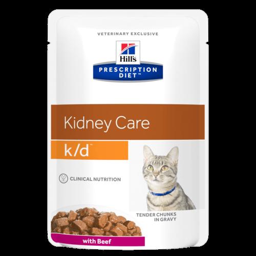 HILL'S  Prescription Diet Feline k/d beef kapsička 85g