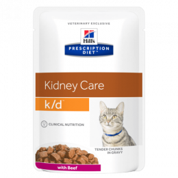 HILL`S  Prescription Diet Feline k/d beef kapsička 85g