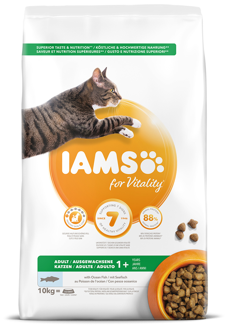 IAMS Cat Adult Ocean Fish 10kg