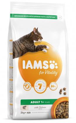 IAMS Cat Adult Salmon 2kg + 4x kapsička ZDARMA