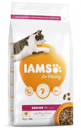 IAMS Cat Senior Chicken 2kg + 4x konzerva ZDARMA