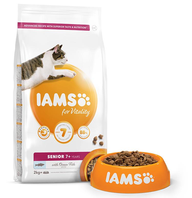 IAMS Cat Senior Ocean Fish 2kg