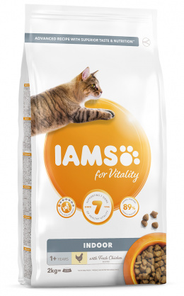 IAMS Cat Adult Indoor Chicken 2kg + 4x kapsička ZDARMA