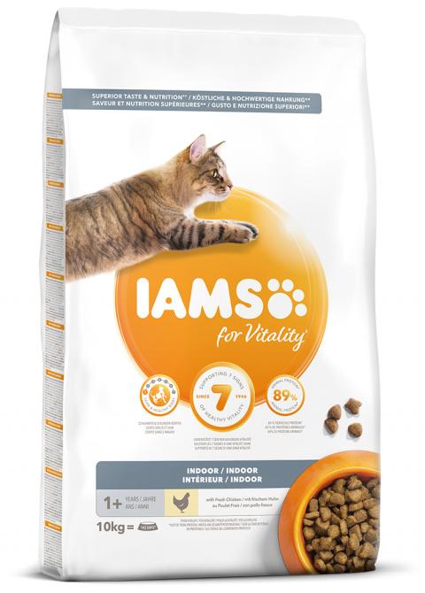 IAMS Cat Adult Indoor Chicken 10kg title=