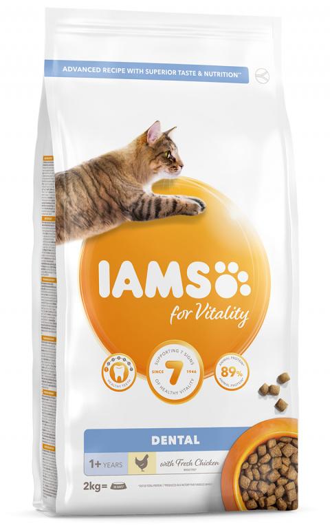 IAMS Cat Adult Dental Chicken 2kg title=