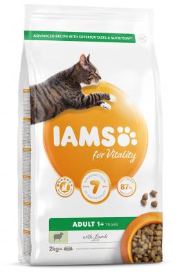 IAMS Cat Adult Lamb 2kg + kachní kostky ZDARMA