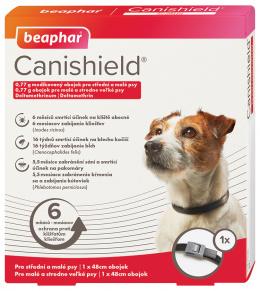 Antiparazitní obojek pro malé a střední psy Beaphar Canishield® 48 cm