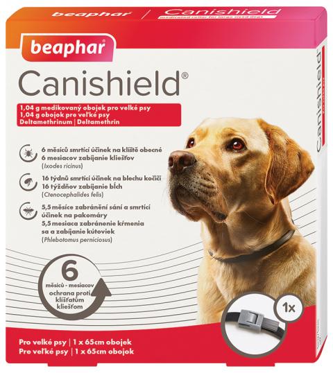 Antiparazitní obojek pro velké psy Beaphar Canishield® 65cm + Antiparazitní obojek pro velké psy Beaphar Canishield® 65cm title=