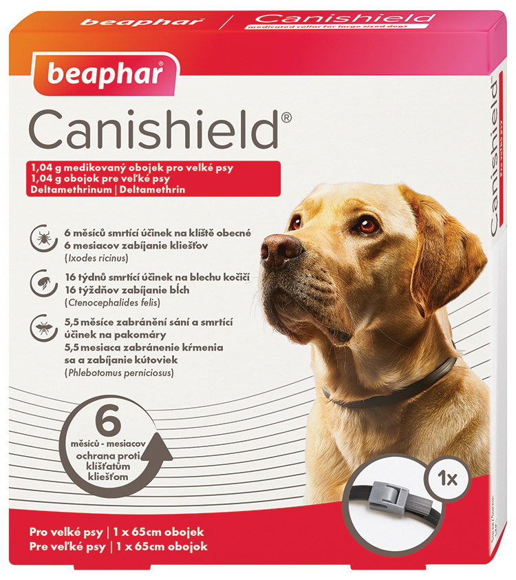 Antiparazitní obojek pro velké psy Beaphar Canishield® 65cm + Antiparazitní obojek pro velké psy Beaphar Canishield® 65cm