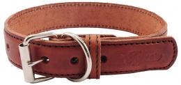 Kožený obojek Tamer 3cm/45cm hnědý