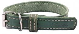 Kožený obojek Tamer 3cm/45cm zelený