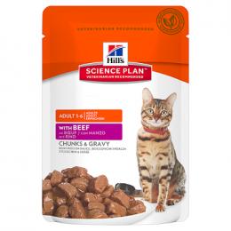 HILL'S Science Plan Feline Adult Optimal Care Beef - kapsička 85g