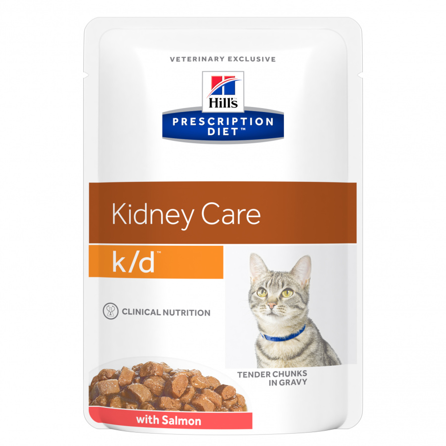 HILL'S Precription Diet Feline k/d Salmon - kapsička 85g