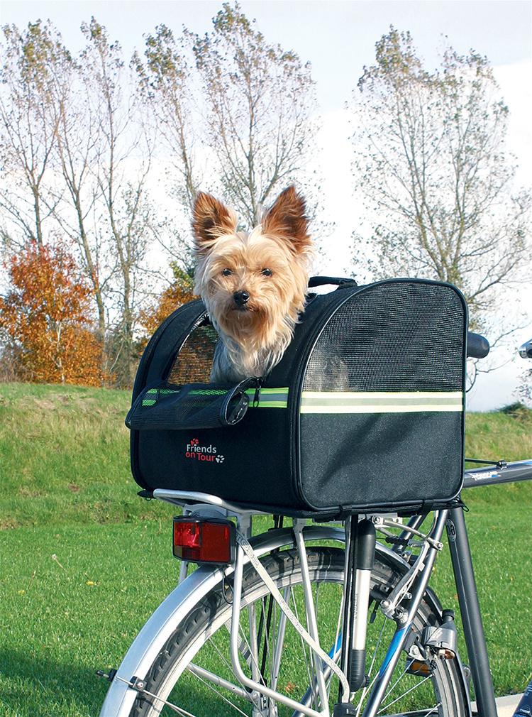 Přepravka na kolo pro psy Trixie 35*28*29cm černá
