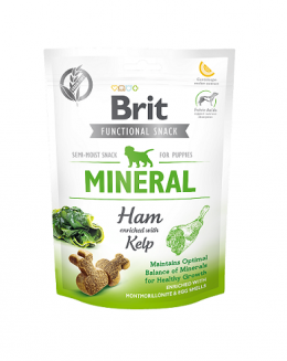 Brit Care Dog Functional Snack Mineral Ham for Puppies 150g