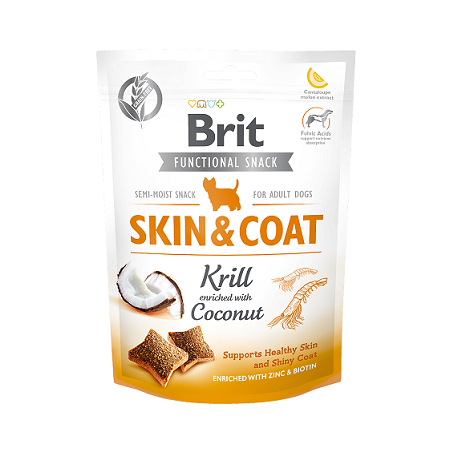 Brit Care Dog Functional Snack Skin&Coat Krill 150g title=
