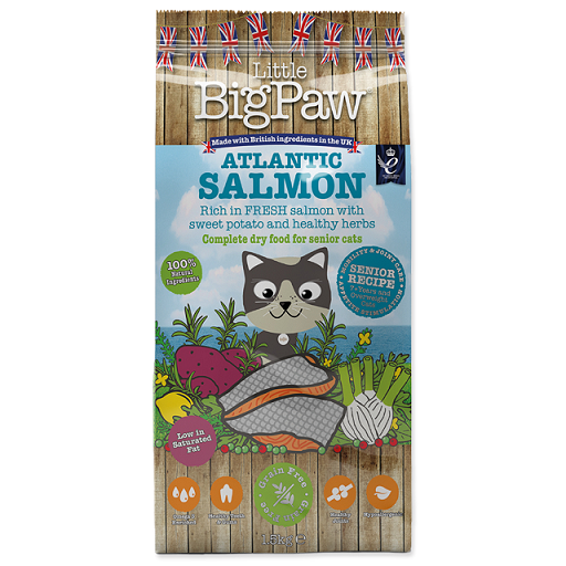 Krmivo Little Big Paw Senior losos 1,5kg 1+1 zdarma