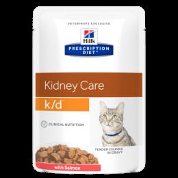 HILL'S Precription Diet Feline k/d Salmon - kapsička 85g 9+3 zdarma