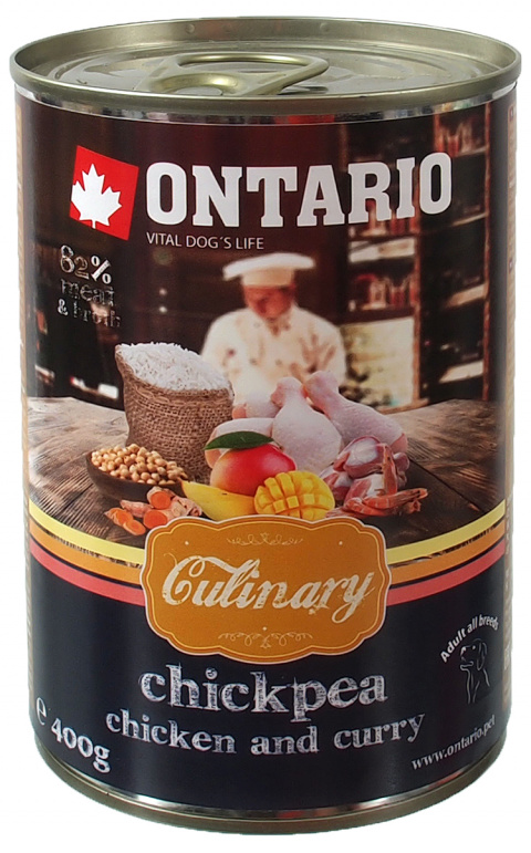 ONTARIO konzerva Culinary Chickpea, Chicken and Curry 400g