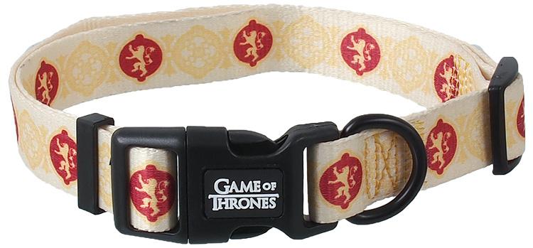 Obojek s vodítkem 100cm GOT Lannister žlutý 2,5 x 51-71cm