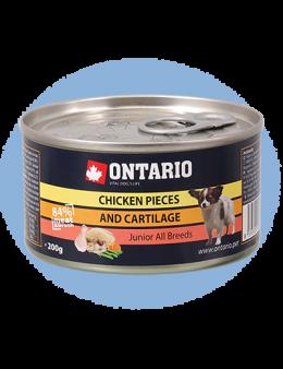 Konzerva Ontario Junior Chicken Pieces + Cartilage 200 g