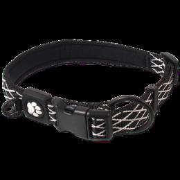 Obojek Active Dog Mystic M černý 2x44-55cm