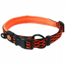 Obojek Active Dog Mystic M oranžový 2x44-55cm
