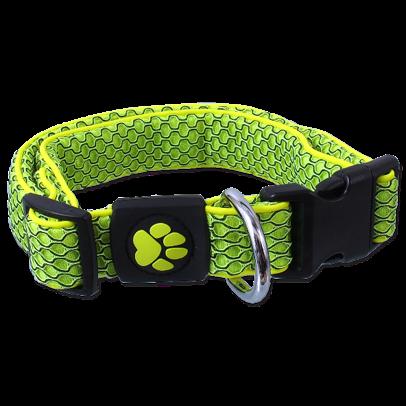 Obojek Active Dog Mellow M limetka 2,5x35-51cm title=