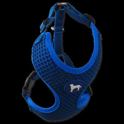 Postroj Active Dog Mellow M tm. modrý 1,5x40-55cm title=