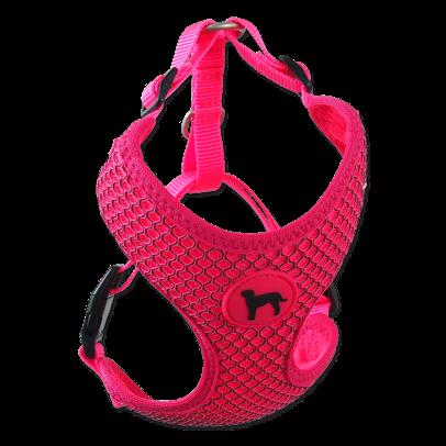 Postroj Active Dog Mellow M růžový 1,5x40-55cm title=