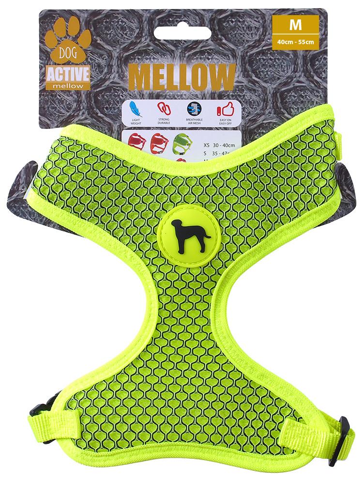 Postroj Active Dog Mellow M limetka 1,5x40-55cm