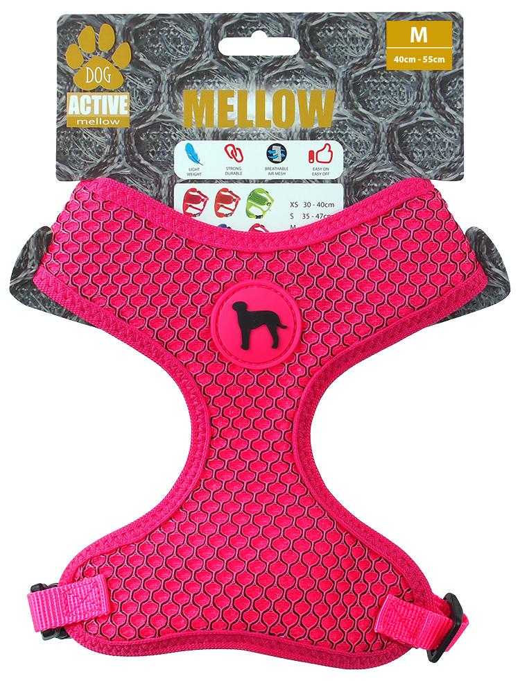 Postroj Active Dog Mellow M růžový 1,5x40-55cm