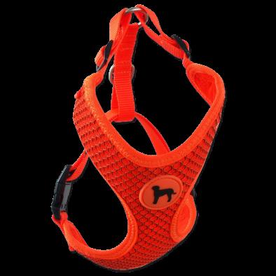 Postroj Active Dog Mellow L oranžový 2x45-65cm