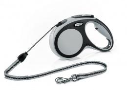 Vodítko Flexi New Comfort lanko S 5m šedé