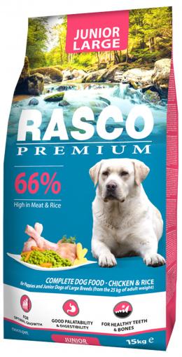 Rasco Premium Puppy/Junior Large 15kg + Hračka Hextex bumerang ZDARMA