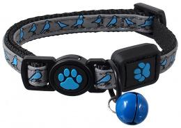 Obojek Active Cat Reflective XXS modrý 1x16-22cm