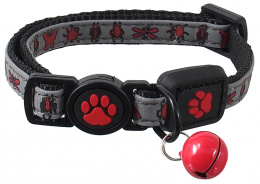 Obojek Active Cat Reflective XXS červený 1x16-22cm