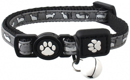 Obojek Active Cat Reflective XS černý 1x19-31cm