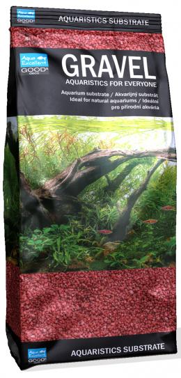 Písek Aqua Excellent červený 1,6-2,2mm 1kg