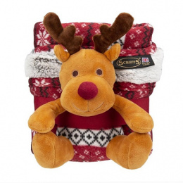 Deka Scruffs Santa Paws Blanket & Reindeer Gift 110x72,5cm