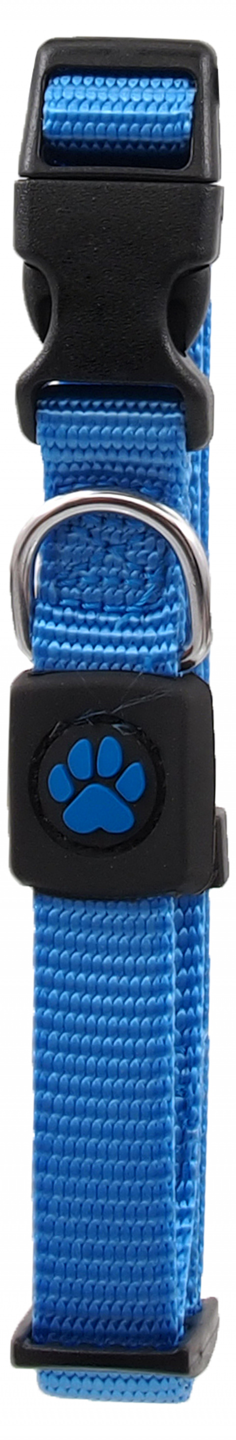 Obojek Active Dog Premium S modrý 1,5x27-37cm title=