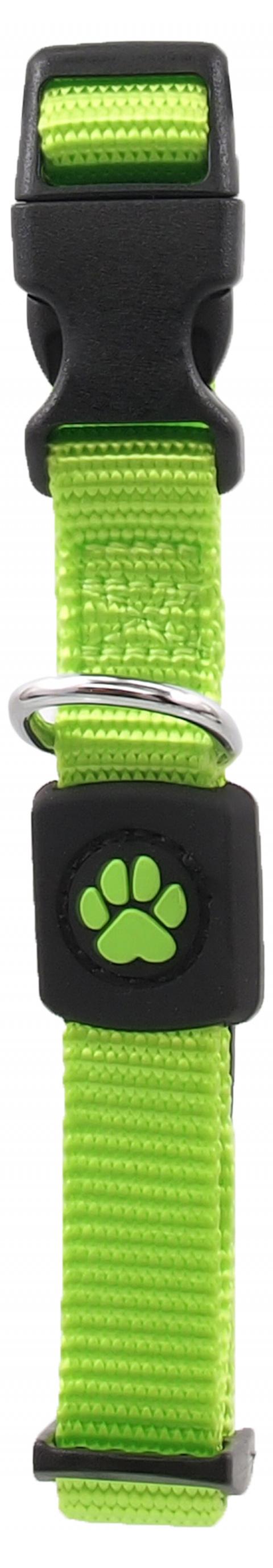 Obojek Active Dog Premium S limetka 1,5x27-37cm title=