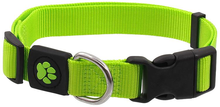Obojek Active Dog Premium S limetka 1,5x27-37cm