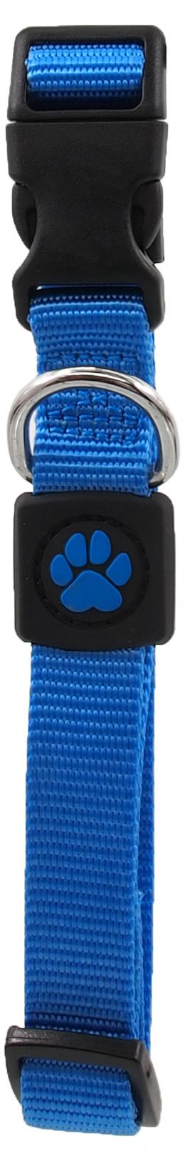 Obojek Active Dog Premium M modrý 2x34-49cm