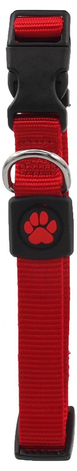 Obojek Active Dog Premium M červený 2x34-49cm