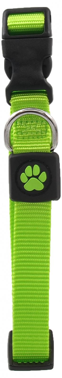 Obojek Active Dog Premium M limetka 2x34-49cm