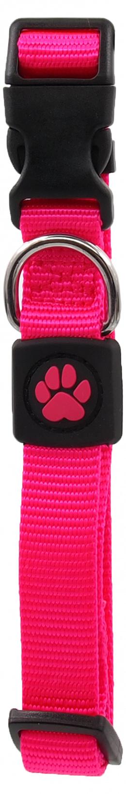 Obojek Active Dog Premium M růžový 2x34-49cm