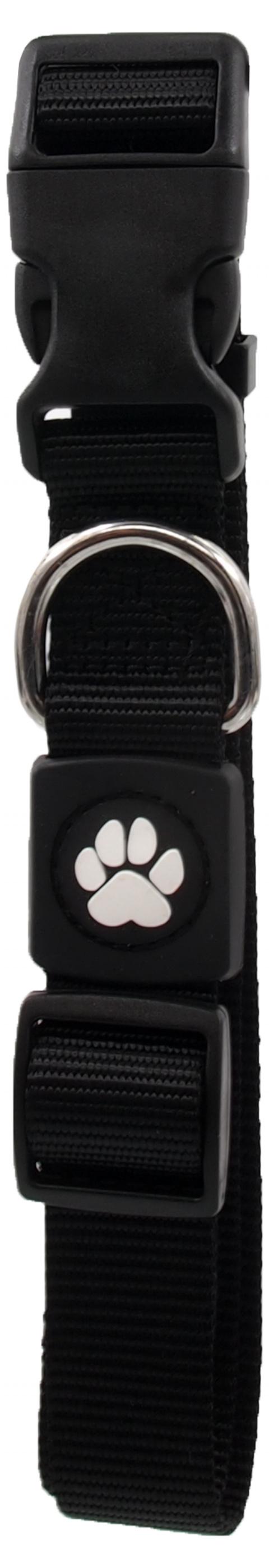 Obojek Active Dog Premium L černý 2,5x45-68cm title=