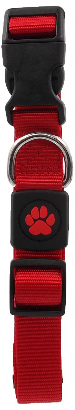 Obojek Active Dog Premium L červený 2,5x45-68cm