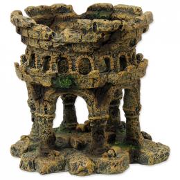 Dekorace akvarijní zřícenina hradu 12,5x12x12cm
